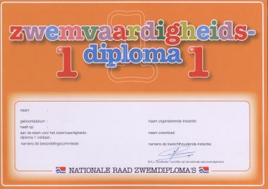 zwemvaardigheidsdiploma 1